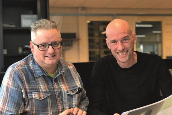 Patrick (links) met collega Dave CopyShop IJsselstein