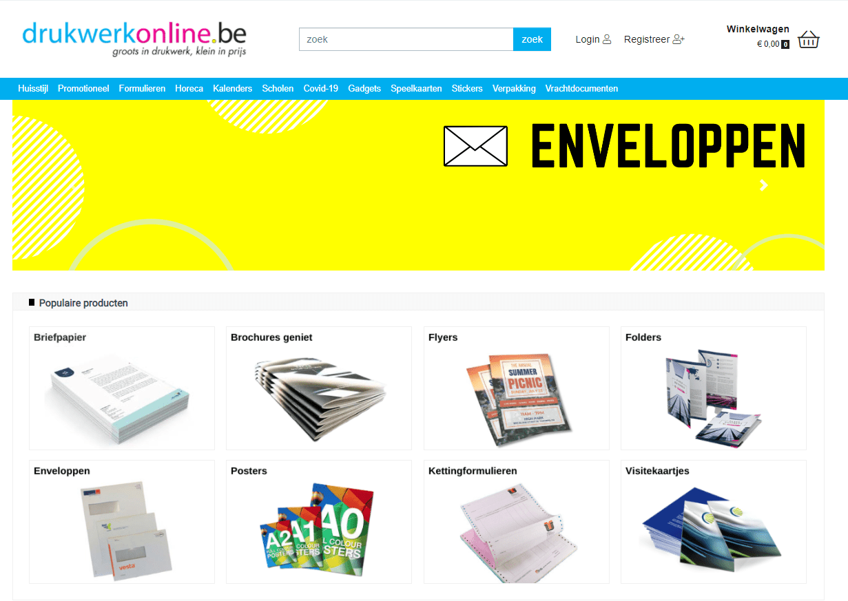 Webshop Drukwerkonline-BE