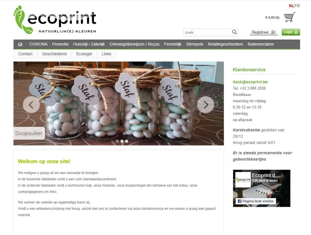 Ecoprint webshop