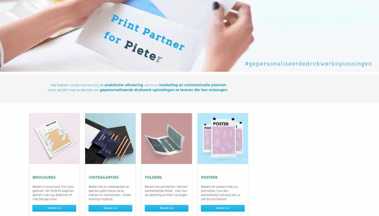 Storefront webshop