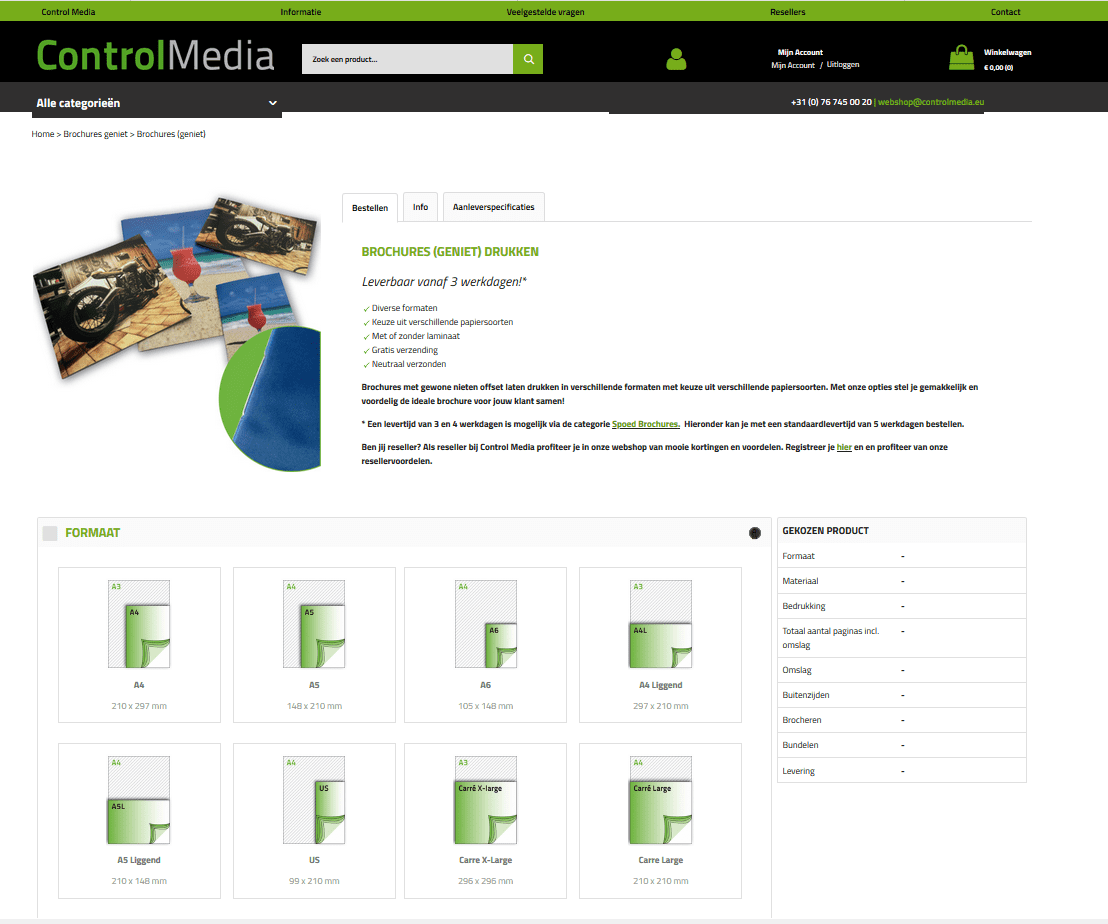 Webshop Control Media