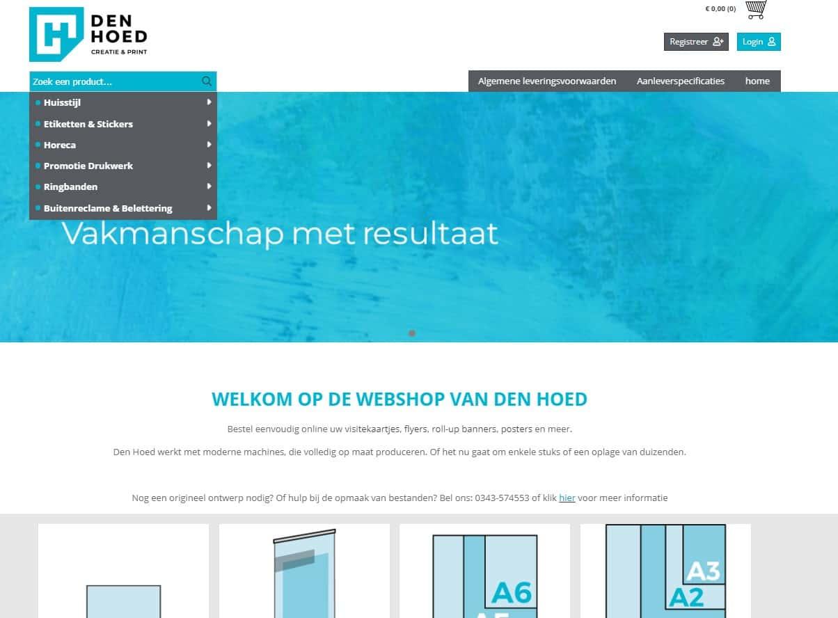 Webshop Den Hoed