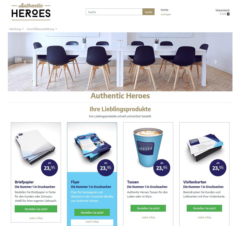 Prindustry Brandportal Webshop Deutschland