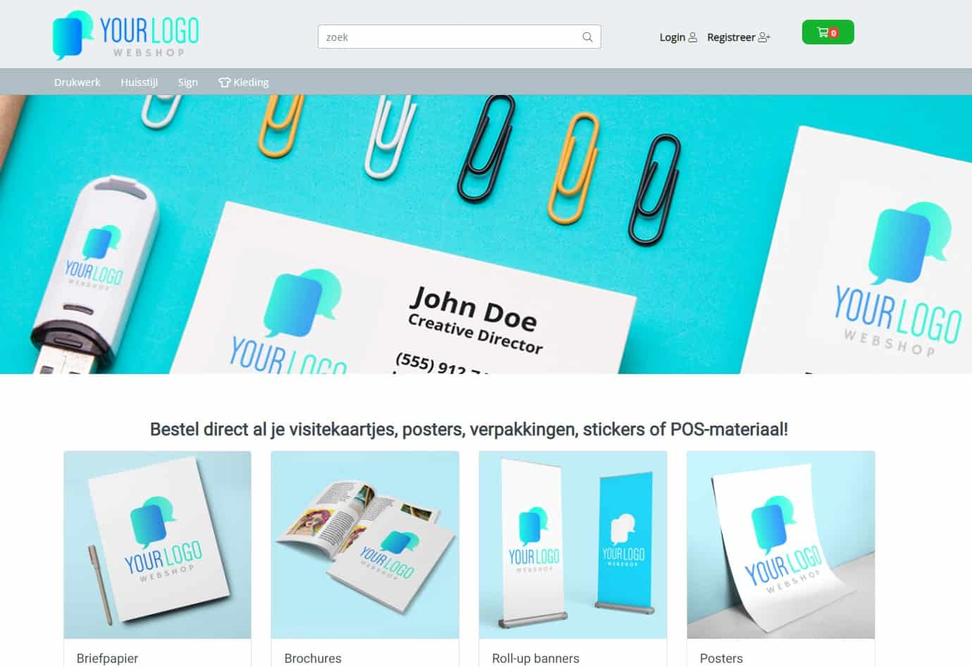 NL demo shop storefront webshop