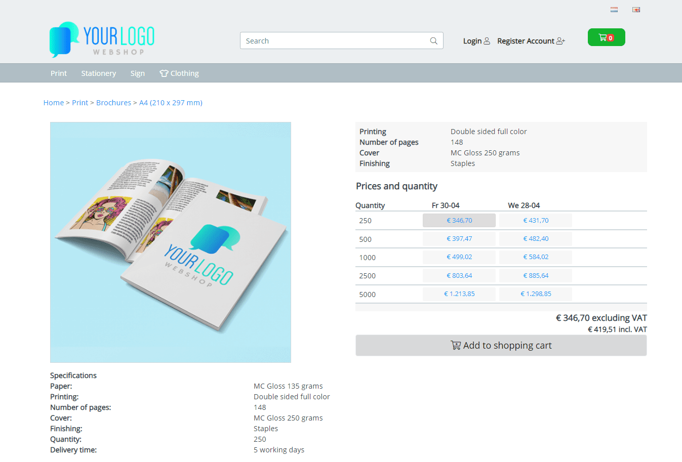 UK demo shop