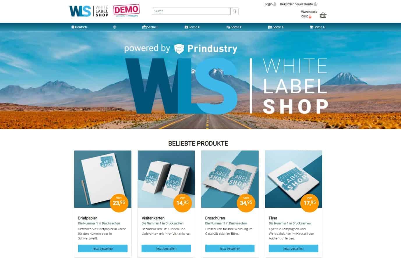 Prindustry WhiteLabelShop Deutschland