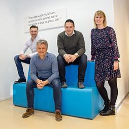 Prindustry kennissessie team - Ramon, Berend, Marc en Jolanda