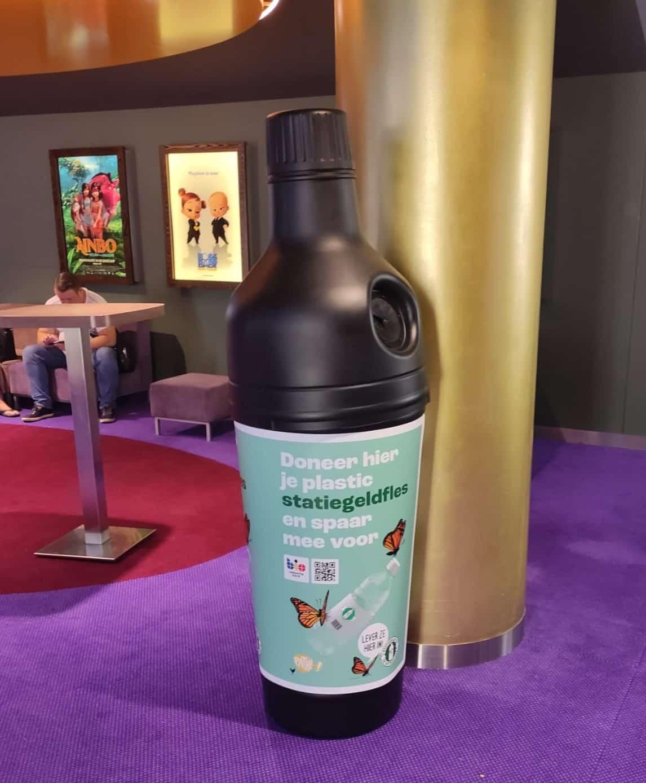 Inname plastic flesjes statiegeld bioscoop