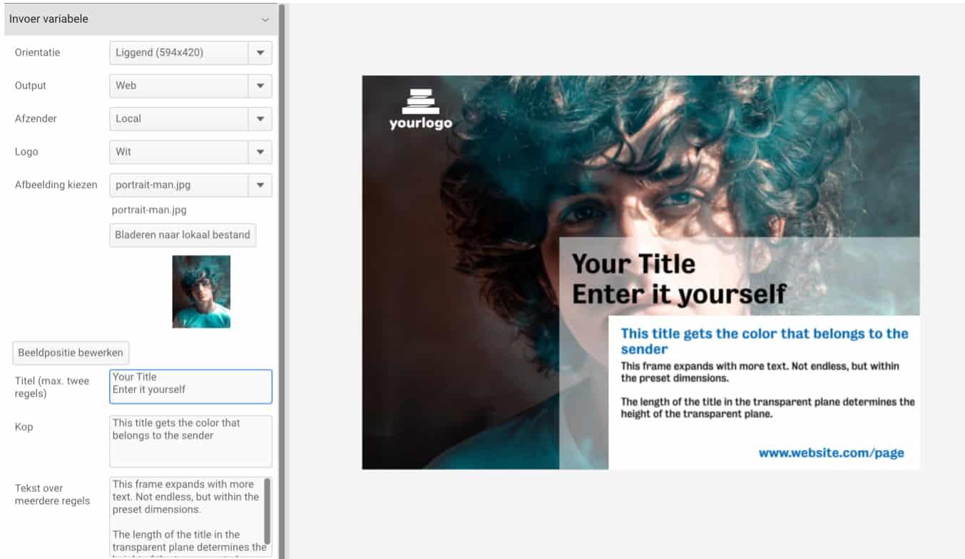 UK CHILI Smart Template Editor