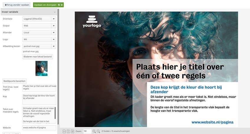 CHILI smart template NL Brandportal